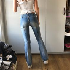 Hinten miss reißverschluss sixty jeans Hose mit