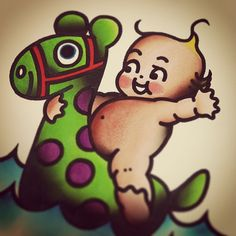 #summer .. I want to tattoo this! #kewpie #floaty - @jenn_matthews- #webstagram