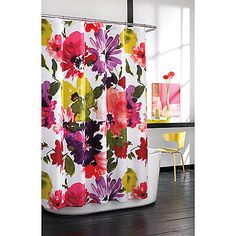 Love!!! Get the 70x 84 for length  Bed Bath and Beyond Anthology Avery Fabric Shower Curtain