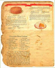 Vintage Caramel Recipes!! Caramel Cake - Chocolate Drop Cookies - Gold Cake #Caramel #WerthersCaramel