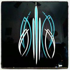 H Car Pinstriping, Pinstriping Designs, Pinstripe Art, Wood Burning Art, Man Room, Old Art, Custom Paint, Helmets, Airbrush