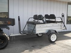 We recently redesigned our 4-passenger tow-behind tram trailer with a new chassis that features a torsion axle and 12-inch wheels for improved ride quality. These are highly customizable units with pricing starting at just $1590. See more at: http://www.powerequipmentsolutions.com/products-a-services/online-store/passenger-trams/economy-passenger-tram.html  #tram #trailer #passengers #towing #tours #smallbusiness #PES #Vandalia
