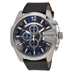Mega Chief Navy Blue Dial Men's Chronograph Watch