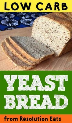 This is a low carb version of good old fashioned yeast bread. It has all the chewy goodness of regular bread, but with just net carbs per slice. Lowest Carb Bread Recipe, Low Carb Bread, Low Carb Keto, Recipes With Yeast, Yeast Bread Recipes, Healthy Low Carb Recipes, Low Carb Dinner Recipes, Diet Recipes, Cookie Recipes