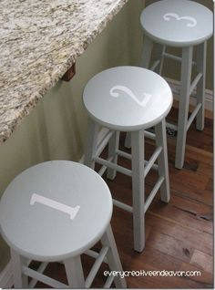 #Numbered #BarStools  LOVE!