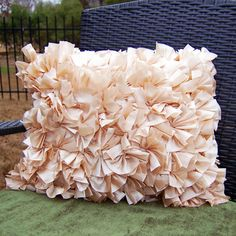 Ruffled Pillow | 40 No-Sew DIY Projects