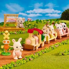 Calico Critters Choo Choo Train Critters Set « Blast Groceries Sylvania Families, Choo Choo Train, Sweet Little Things, Family Images, Train Set, Cute Pins, Amusement Park, Christmas Presents, Future Baby