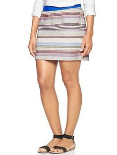 Factory multi-stripe jacquard skirt | Gap