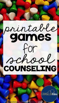 easy to print and plat games for school counseling! games for coping skills, career education, mindfulness, problem solving, self esteem, feelings, friendship, and more!