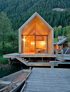 old sawmill turned larchwood cabin | Austria's Lake Weissensee
