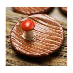 And, because we can't be woodland enough in my mind, a tiny red-cap mushroom.