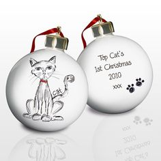 £9.49 Personalised Cat Bauble