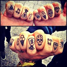 I have this weird obsession with knuckle tattoos
