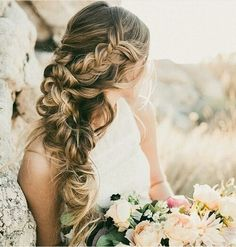 These pretty wedding hairstyles form Hair & Makeup by Steph are all we could ever want when it comes to bridal beauty. This Utah-based stylist does the best job of making each braid and updo seriously Wedding Hair And Makeup, Hair Makeup, Long Bridal Hair, Easy Wedding Guest Hairstyles, Bridal Hairstyles, Hairstyle Wedding, Hair Styles Wedding Guest, Bridesmaid Hairstyles, Bohemian Wedding Hairstyles