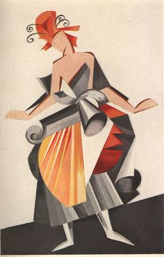 Futurist costume design by Aleksandra Ekster, The Wolfsonian-Florida International University. Russian Ballet, Russian Art, Russian Constructivism, Ballet Russe, Art Nouveau, Graphic Design Illustration, Costume Design, Book Art, Modern Art