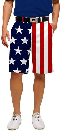 Stars & Stripes Mens Made to Order Shorts by Loudmouth Golf.  Buy it @ ReadyGolf.com