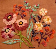 Ribbon and Wool Embroidery