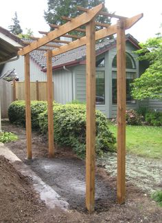 Free standing trellis for along fence line.