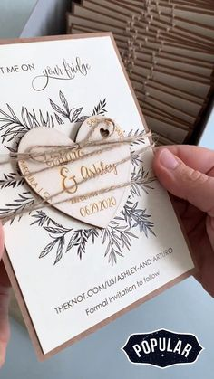 Why not innovate the traditional card with the Custom Save the Date Magnets. Remembering the date of your special day on the fridge of your guests will be original and pleasant. Cricut Wedding Invitations, Save The Date Invitations, Wedding Invitation Templates, Wedding Stationery, Party Invitations, Invites, Rustic Wedding Save The Dates, Unique Save The Dates, Save The Date Ideas Diy