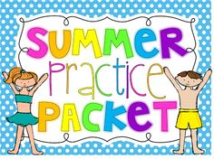 Summer Practice Packet to get ready for 2nd Grade! Also great for little smarties getting ready for 1st grade!