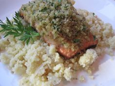 Stirring the Pot: Ina's Panko-Crusted Salmon served on Couscous