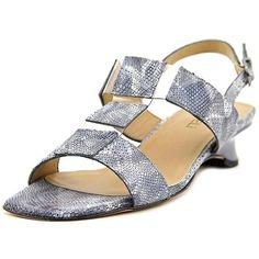 98525390c Shop for Vaneli Berdine Women Open-Toe Leather Blue Slingback Sandal. Free  Shipping on. overstock.com
