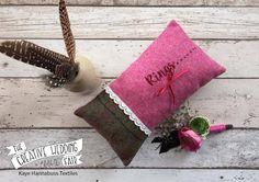 Kaye Hannabuss Textiles - The Creative Wedding Fair by Etsy Manchester - Wedding RIng Cushion - Harris Tweed Ring Cushion