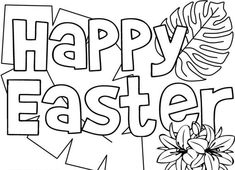We are sharing awesome collection Happy Easter Coloring Pages For Kindergarten, Students, Kids, Toddlers & Preschoolers. Get Free Printable Easter Colouring Sheets Easter Bunny Colouring, Bunny Coloring Pages, Fall Coloring Pages, Coloring Pages To Print, Coloring Pages For Kids, Easter Images Free, Easter Pictures, Happy Easter Messages, Easter Wishes