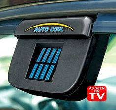 The As Seen on TV Auto Cool™ is a car vent that eliminates scorching heat build-up in your car! The auto cool vent is a solar-powered ventilator that automatically expels hot air from your parked car, so it's not a furnace when you return.  The Auto Cool™ solar-powered car vent helps minimize pet and tobacco odors, too.  The auto cool fan runs on the sun's power – no electricity or batteries needed! The vent installs in seconds on windows of all vehicle makes and models.  ...
