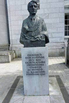 Terence MacSwiney, Lord Mayor of Cork City, replaced a Lord Mayor that was killed by the Black and Tans. Just to say he would take the job took a lot of courage