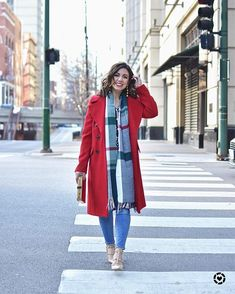 Since the weather is now up to double digits (YAS!) I might be able to wear this coat today! We want to go ice skating in Millenium Park ❤️. Photo by @denisemarieko .  http://liketk.it/2u91n  #liketkit @liketoknow.it #redcoat #asseenonme