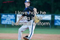 Scotty McCreery in a baseball uniform, um.