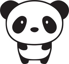 "Cute Baby Panda Bear Custom Made Cell Phone iphone Vinyl Decal Sticker - 1.5"" x 1.38"" - 28 Color Options. $0.75, via Etsy."