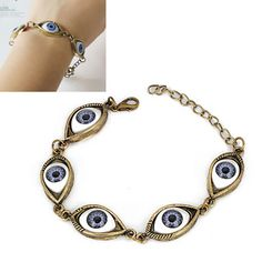 Evil Eye Jewelry, Evil Eye Bracelet, Fashion Bracelets, Bangle Bracelets, Bangles, Hand Accessories, Eye Shapes, Korean Fashion, Bronze