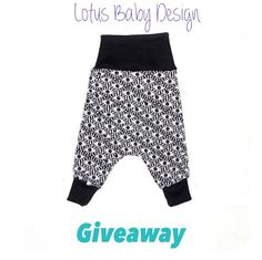 Functional and stylish baby harem pants that grow with your baby. Guaranteed to fit your baby and toddler for longer. Baby Harem Pants, Instagram Giveaway, Stylish Baby, Baby Design, Baby Wearing, Lotus, Perfect Fit, Gym Shorts Womens, Harems