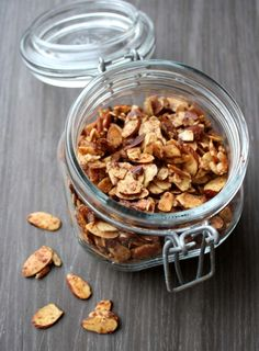 Clean Eating Snacks, Healthy Snacks, Healthy Recipes, Dukan Diet, Roasted Almonds, Granola, Food Inspiration, Low Carb, Lunch