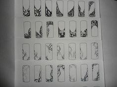 Nail Courses, China Nails, Tinta China, Nailart, Nail Patterns, Stencil Designs, Nail Inspo, Nail Tips, Color Inspiration