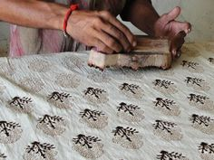 Traditional hand block printing
