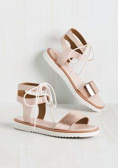 You're dedicated to enveloping your feet in luxurious style, which is why these vegan-friendly sandals by BC Footwear are a must-have. What could be more lavish than their blush and rose gold hues? Only the faux-leather ankle straps, ivory laces, and treaded soles of this perfect pair!