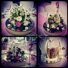 #Christening #decor #crowns #arrangements #pink