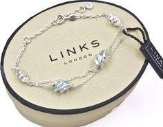 LINKS OF LONDON Sterling Silver Entwine Blue Topaz Bracelet REDUCED – Lush Labels