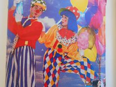 Butterick 6846 and 6847 Colorful CLOWN Costume Sewing pattern children/adults by runningwithneedles on Etsy