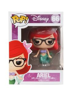 82d2f7504 Amazon.com: Disney Funko Pop! The Little Mermaid EXCLUSIVE Nerd Ariel Vinyl  Figure RARE ~ Series 66: Toys & Games