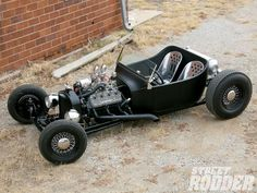 Check out the Speedway Motors Tribute T Kit from Speedy Bill Smith with a Ford Flathead V-8 or a small block Chevy V-8 - Street Rodder Magazine
