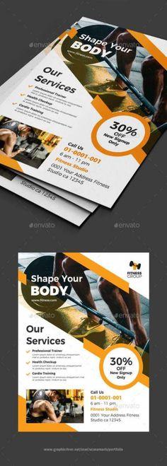fitness Design brochure - New design flyer sport Ideas Brochure Design, Brochure Template, Flyer Template, Flyer Design, Fitness Flyer, Fitness Inspiration Quotes, Sports Flyer, Fitness Motivation Pictures, Fitness Design