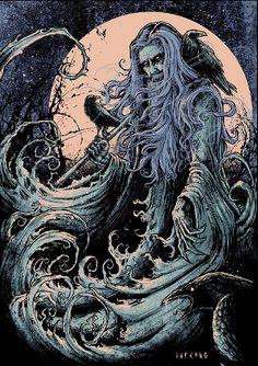 tatteredbanners:    Odin by Godmachine