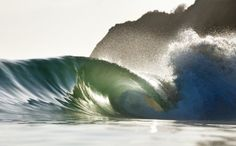 I want to find this artist, this is the most beautiful image of a wave I have ever seen. The composition of color and graphics between the wave face, the spray, and the clouds. Surfing Destinations, Surfing Pictures, Summer Surf, Most Beautiful Images, Surf Trip, Big Waves, Surfs Up, Surfboard, Places To See