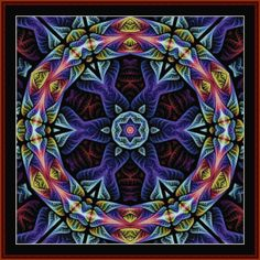 Fractal 665 -  All Patterns -  NEW - Abstract  - Fractals - Cross Stitch Collectibles