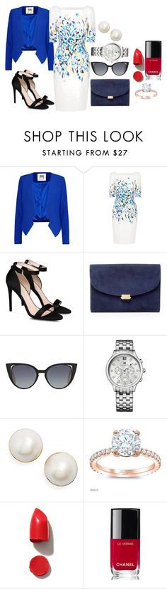 """Untitled #292"" by maha-951 ❤ liked on Polyvore featuring Milly, L.K.Bennett, STELLA McCARTNEY, Mansur Gavriel, Fendi, Tommy Hilfiger, Kate Spade, NARS Cosmetics and Chanel"