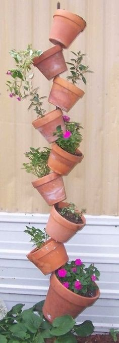 Vertical Garden. I think this would great for strawberries, tumbling cherry tomatoes and herbs!